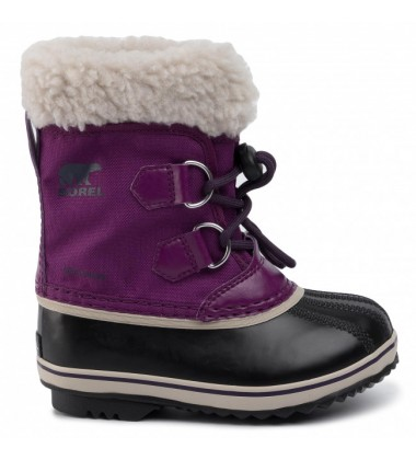 Sorel žiemos batai Yoot Pac Nylon. Spalva tamsiai violetinė