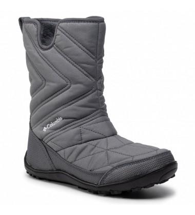 Columbia žiemos batai mergaitei YOUTH MINX SLIP III. Spalva tamsiai pilka