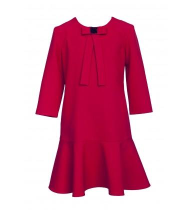 Sly vaikiška suknelė. Spalva raudona