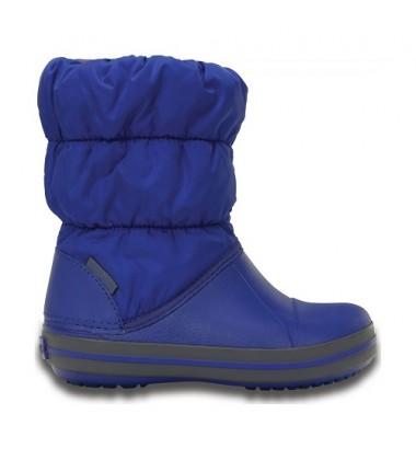 Crocs™ žieminiai batai Kids' Winter Puff. Spalva mėlyna/ pilka