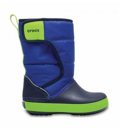 Crocs™ sniego batai Lodgepoint Kid's. Spalva tamsiai mėlyna / žalia