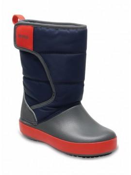 Crocs™ sniego batai Lodgepoint Kid's. Spalva tamsiai mėlyna / raudona