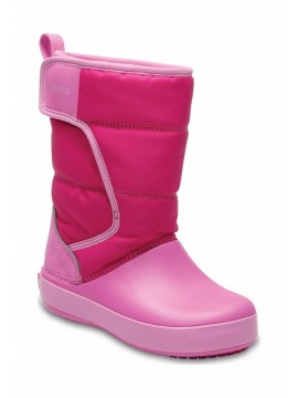 Crocs™ sniego batai Lodgepoint Kid's. Spalva rožinė