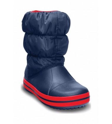 Crocs™ žieminiai batai Kids' Winter Puff. Spalva tamsiai mėlyna/ raudona