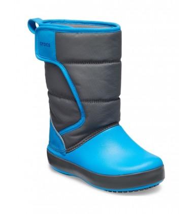 Crocs™ sniego batai Lodgepoint Kid's. Spalva pilka/ žydra