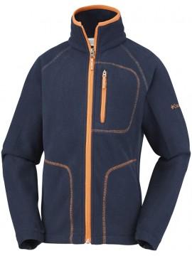 Columbia flisinis džemperis FAST TREK II. Spalva tamsiai mėlyna su orandžiniu akcentu