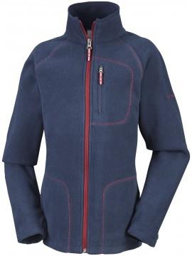 Columbia flisinis džemperis FAST TREK II. Spalva tamsiai mėlyna su bordinės spalvos akcentais