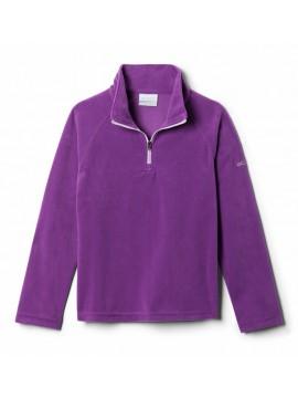 Columbia flisinis džemperis mergaitėms Glacial Fleece Half Zip. Spalva violetinė