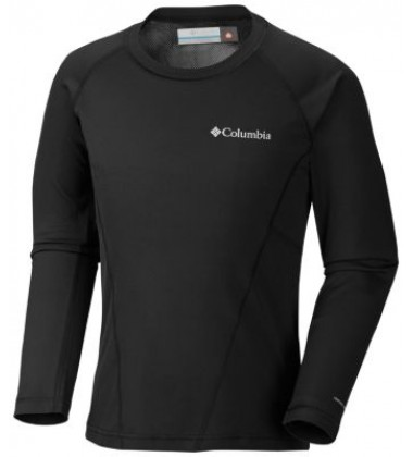 Columbia termo marškinėliai Midweight Crew. Spalva juoda
