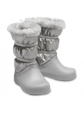 Crocs™ žieminiai batai Crocband LodgePoint Metallic. Spalva sidabro