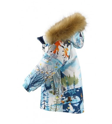 Reima žiemos striukė Sukkula. Spalva balta / žydra