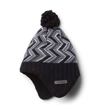 Columbia kepurė Youth Winter Worn. Spalva Spalva juoda / pilka
