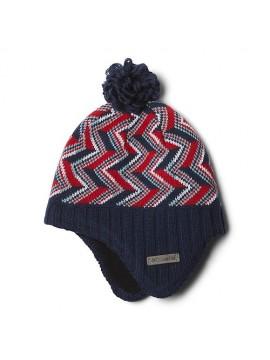 Columbia kepurė Youth Winter Worn. Spalva tamsiai mėlyna / raudona