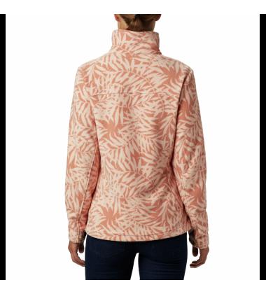 Columbia moteriškas flisinis džemperis FAST TREK LIGHT PRINTED FULL ZIP. Spalva šviesiai koralų su printu