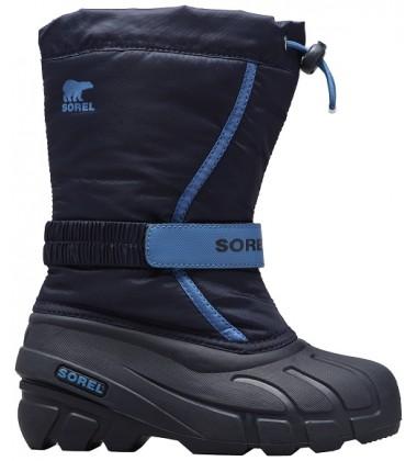 Sorel žiemos batai FLURRY. Spalva juoda / mėlyna