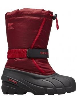 Sorel žiemos batai FLURRY. Spalva tamsiai raudona