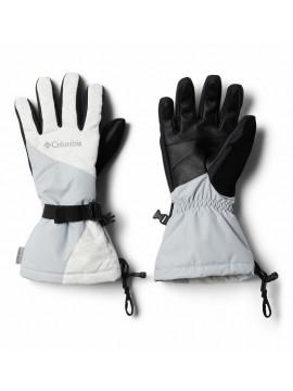 Columbia moteriškos neperšlampamos žiemos pirštinės  Whirlibird. Spalva balta / pilka / juoda