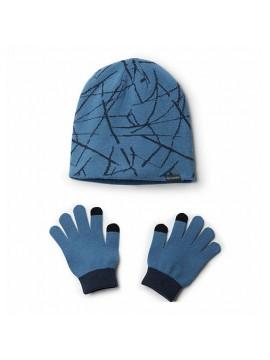 Columbia pirštinių ir kepurės komplektukas. Spalva mėlyna / juoda