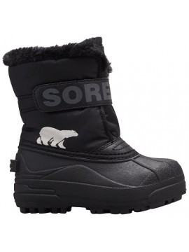 Sorel žiemos batai Childrens Snow Commander. Spalva juoda