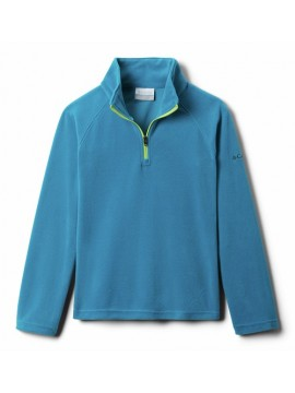 Columbia flisinis džemperis mergaitėms Glacial Fleece Half Zip. Spalva jūros mėlyna