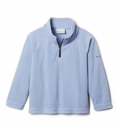 Columbia flisinis džemperis mergaitėms Glacial Fleece Half Zip. Spalva šviesiai violetinė