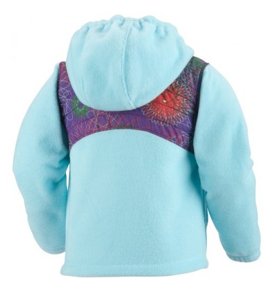 Columbia flisinis džemperis EMMA ANGEL. Spalva šviesiai mėlyna su printu