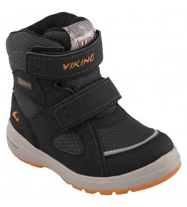 Viking žiemos batai ONDUR GTX. Spalva juoda / oranžinė