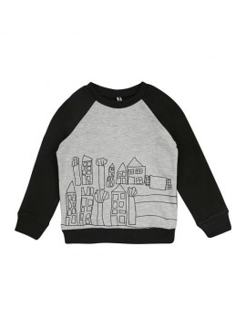 Garnamama džemperiukas - megztukas. Spalva pilka / juoda