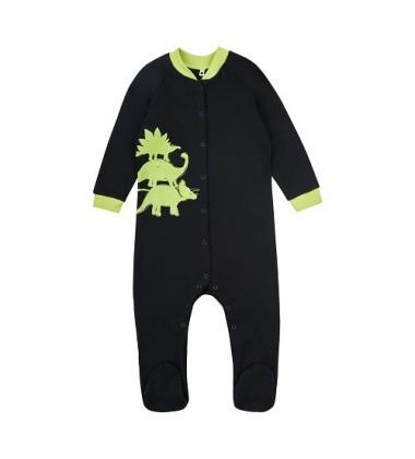 Garnamama kombinezonas / pižama. Spalva juoda su dinozaurais