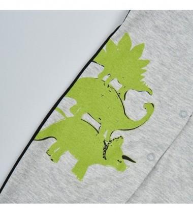 Garnamama kombinezonas / pižama. Spalva pilka su dinozaurais