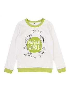 """Garnamama palaidinė """" Dinosaur World"""". Spalva balta"""