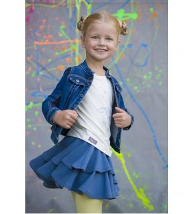 Monomy sijonas. Spalva mėlyna. Dydžiai 122-140 cm