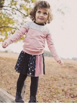 Koko - Noko sijonukas mergaitei. Spalva juoda / tamsiai mėlyna / rožinė