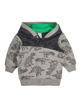 Garnamama džemperiukas berniukams. Spalva pilka su printu