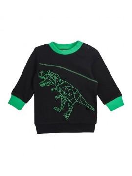 """Garnamama palaidinė """"Dinozauras"""" . Spalva juoda / žalia"""