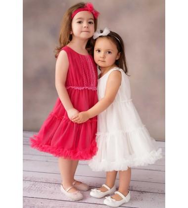 Balumi Suknelė Francesca 92-122cm. Spalva Ryškiai Rožinė