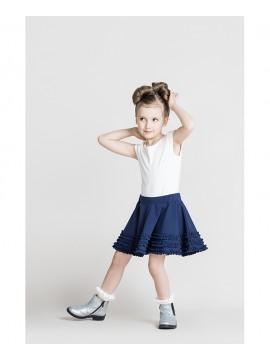 Monomy sijonas. Spalva tamsiai mėlyna. Dydžiai 98-110 cm