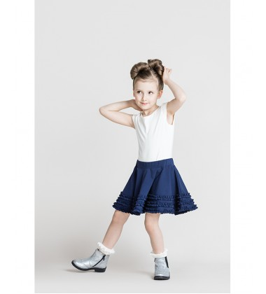 Monomy sijonas. Spalva tamsiai mėlyna. Dydžiai 116-146 cm