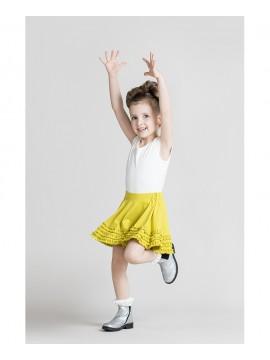 Monomy sijonas. Spalva laimo. Dydžiai 98-110 cm