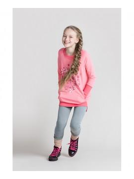 Monomy bliuzonas/suknelė. Spalva šviesiai rožinė. Dydžiai 98 - 110 cm