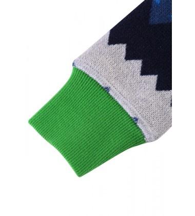 Reima flisinis kombinezonas Myytti. Spalva mėlyna / žalia su eglutėmis