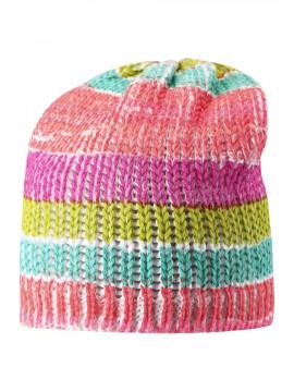 Reima pavasario kepurė TURBIDITE. Spalva rožinė dryžuota