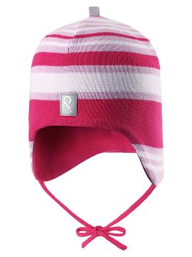 Reima rudens / pavasario kepurė Aqueous. Spalva rožinė dryžuota