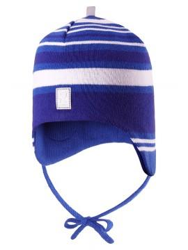 Reima rudens / pavasario kepurė Aqueous. Spalva mėlyna dryžuota