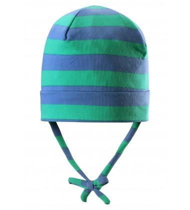 Reima pavasario kepurė su raišteliais Linna. Spalva šviesiai mėlyna / žalia