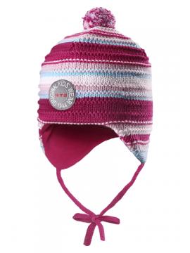 Reima žiemos kepurytė Kumpu. Spalva rožinė dryžuota