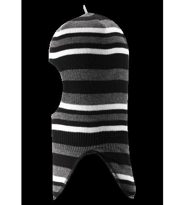 Reima šalmukas SIMO. Spalva juoda / balta dryžuota