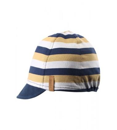 Reima pavasario / vasaros kepurė Kilppari. Spalva tamsiai mėlyna / balta / geltona