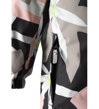 Reimatec® žiemos kombinezonas Oulu. Spalva juoda su gėlėtu printu