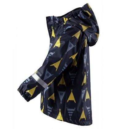Reima lietaus striukė su fliso pašiltinimu Koski. Spalva tamsiai mėlyna / geltona